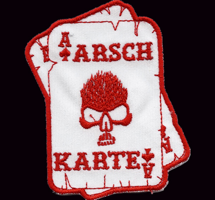Flaming Skull Arschkarte dark Hells Biker Eagle Bad Angels Aufnäher Patch