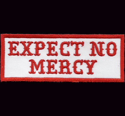 Expect No Mercy Hells dark Biker Eagle Bad Angels Aufnäher Patch