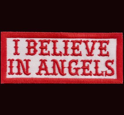 Hells Patch I believe in ANGELS Aufnäher Red/white Rangabzeichen