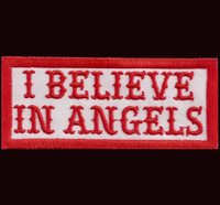 Hells Patch I believe in ANGELS Aufnäher Red/white Rangabzeichen