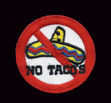 NoTacos Hells No Tacos MC Dark Angels Biker Skull Aufnäher Patch