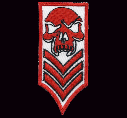 2 Hells Shoulder RANK Skull Aufnäher Patch Dark Angels Biker Abzeichen SET