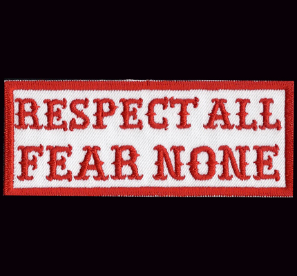 Respect ALL, Fear NONE Hells dark Biker Eagle Bad Angels Aufnäher Patch