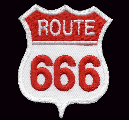 Route 666 Harley Davidson dark Hells Biker Eagle Bad Angels Aufnäher Patch