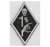 1%er Promille Bad to the Bones 88 MC Bikerjacke Kutte Aufnäher Patch