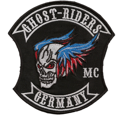 MC Ghost Riders Germany TOP XXL alter Biker MC Aufnäher Patch Backpatch