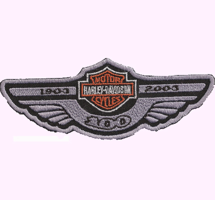 Harley Davidson 100 Years Anniversary 100er Wing Patch - Aufnäher