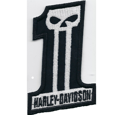 Harley Davidson G. Willis Skull Head Nr.1 Biker Freerider Aufnäher Patch