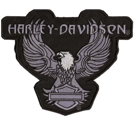 Harley Davidson Eagle 1962 Vintage Retro BACKPATCH Aufnäher Motorcycles grau