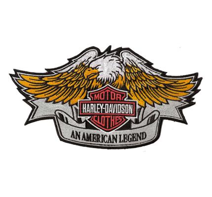 Harley Davidson American Legend Eagle Vintage Retro BackPatch Aufnäher XXL