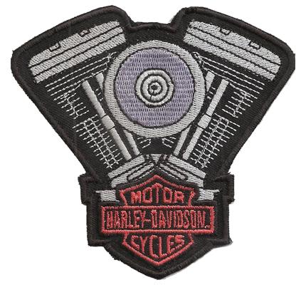 Harley Davidson Engine V Motorblock Vintage Motorcycles Aufnäher Patch