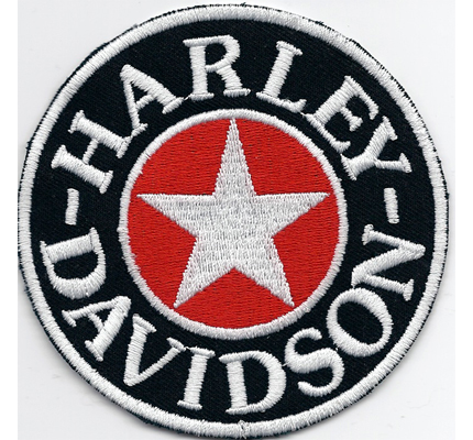 Harley Davidson Sherman Star Retro Oldtimer HD Willis Aufnäher Abzeichen