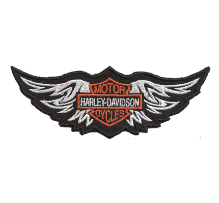 Harley Davidson Wing Logo Vintage Patch HD Motorcycles S Aufnäher