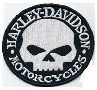 Harley Davidson G. Willis Skull Head Freerider Biker Kutte Aufnäher Patch
