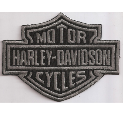 HARLEY DAVIDSON XXXL Motorcycle Chopper Custombike Grey Aufnäher