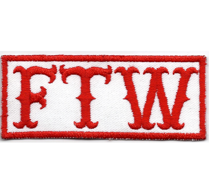 The Hells Patch - FTW Fuck the world Dark Angels Chopper Aufnäher Patch