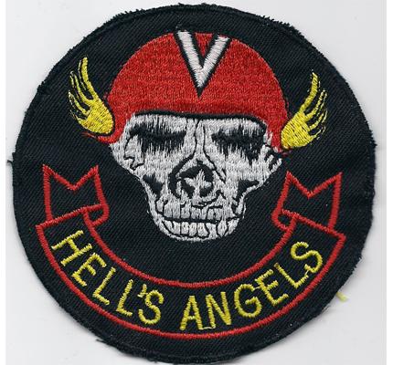 Alter US Airborne Hells Skull Angels Skullhead Front Patch Aufnäher