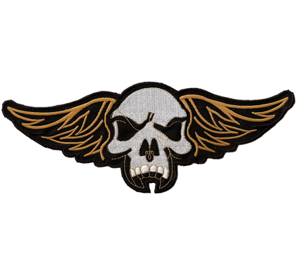 Hells Skull Wing MC Rückenpatch nice Angels Aufnäher Backpatch Patch