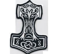 Thors Hammer kl Germania Nordwelt Beowulf Grendel Wikinger Aufnäher