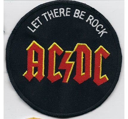 AC DC ACDC AC/DC Let there Rock Heavy Metal CD DVD Aufnäher Abzeichen