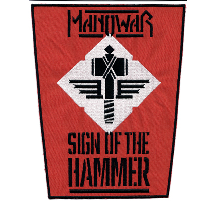 ManoWar Backpatch XXL Sign of the Hammer Kings of Heavy Metal Aufnäher