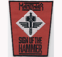 ManoWar Sign of the Hammer Kings of Heavy Metal Album Aufnäher Patch