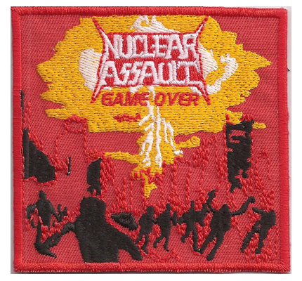 Nuclear Assault Game OVER Thrash Metal Album cover cd Patch Aufnäher