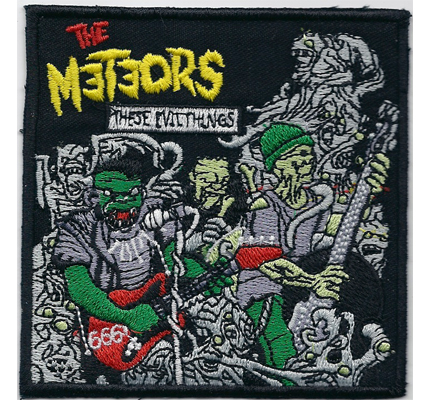 The Meteors These evil things Album Psychobilly Heavy Metal Aufnäher