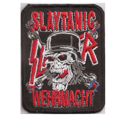 SLAYER Slaytanic slaughter WEHRMACHT Album cover T-Shirt Aufnäher Patch