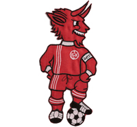 1. FC Köln 1. FCK Fan Club Betzi Maskottchen XL Trikot Schal Aufnäher Patch