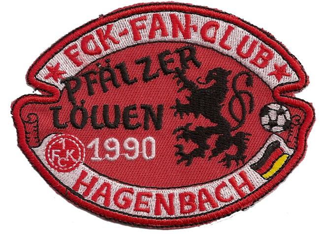1. FC Köln 1. FCK Fan Club Hagenbach Pfälzer Löwen 1990 Aufnäher Patch