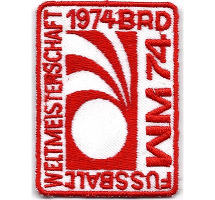 WM BRD 1974 FIFA Fußball Weltmeisterschaft Deutschland Aufnäher