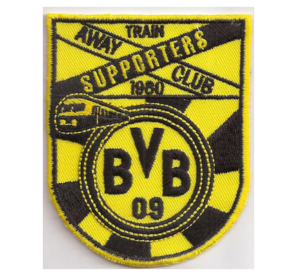 Borussia Dortmund BVB 09 Train Supporters Away Club 1980 Aufnäher Patch
