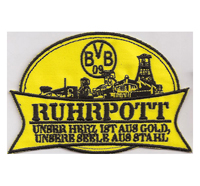 Borussia Dordmund BVB Ruhrpott 09 Stahl Fanclub Trikot Aufnäher Patch