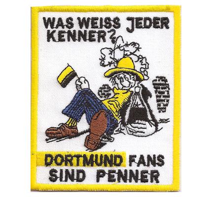 Anti-BVB Borussia Dortmund Kenner, Penner Aufnäher Patch Abzeichen