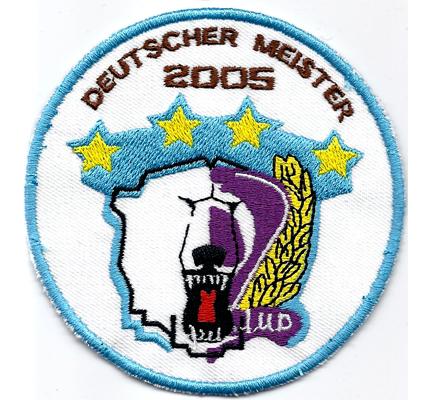 Eisbären Berlin Eishockey Meister 2005 Fanclub Aufnäher Patch Abzeichen