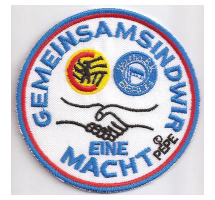 Hertha BSC Fussball FC Berlin Freundschaft Gemeinsam Macht Aufnäher Patch