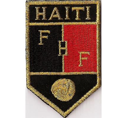 Musterpatch Fussball FHF Haiti -Football Federation Haiti- Aufnäher -black