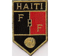 Musterpatch Fussball FHF Haiti -Football Federation Haiti- Aufnäher -black