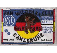 KSC Hertha BSC Berlin Freundschaft Fanclub Wildpark Bären Karlsruhe Patch