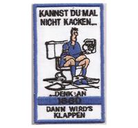 Fussball Anti TSV 1860 München Kannst du mal nicht kacken Aufnäher Patch