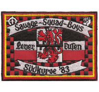 Fussball Leverkusen 04 Savage Squad Boys Südkurve Germany Aufnäher