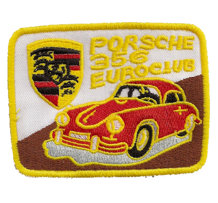 Porsche Euroclub 356 Vintage Patch Rarität Autositz Kopflehne Aufnäher