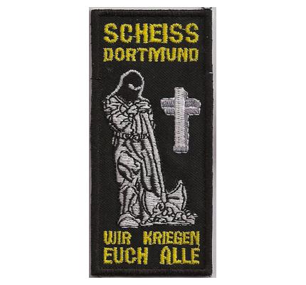 ANTI Scheiss BVB Borussia Dortmund Totengräber Trikot Aufnäher Abzeichen