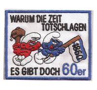 Fussball Anti TSV 1860 München böse Schlümpfe Trikot Aufnäher Patch