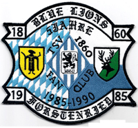 TSV 1860 München Löwen Fanclub Blue Lions  XXXL Aufnäher Abzeichen