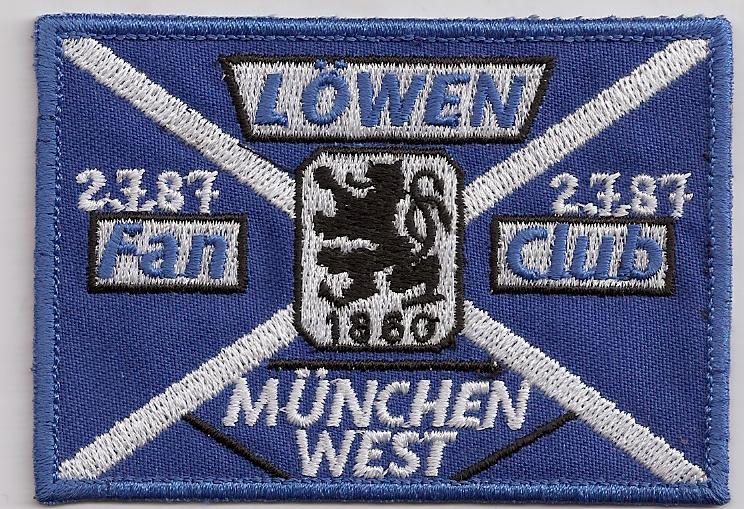 TSV 1860 Löwen München 60er Fanclub München West 1987 Trikot Aufnäher
