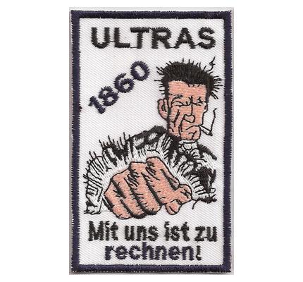 Fussball TSV 1860 München Ultras Mit uns ist zu rechnen Aufnäher