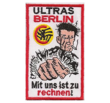 Fussball Union Berlin Ultras Harlekin Mit uns ist zu rechnen Fan Aufnäher