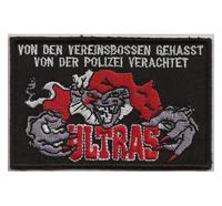 Ultras Hooligan Harlekin Vereinsboss gehasst Polizei verachtet Aufnäher